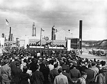 Dedication ceremonies, April 1944